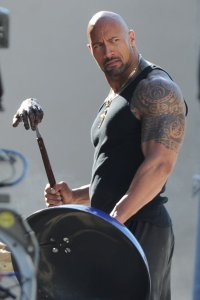 Dwayne-Johnson-on-the-set-of-Pain-and-Gain-2012-Movie-Image